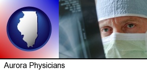Aurora, Illinois - a physician viewing x-ray results
