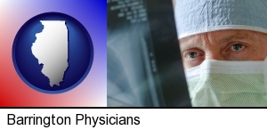 Barrington, Illinois - a physician viewing x-ray results