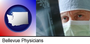 a physician viewing x-ray results in Bellevue, WA