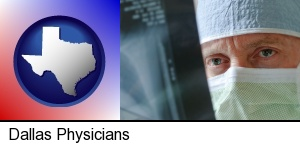 a physician viewing x-ray results in Dallas, TX