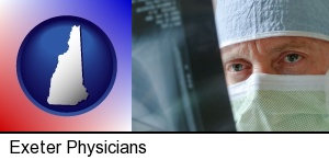 a physician viewing x-ray results in Exeter, NH