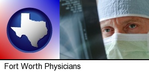 a physician viewing x-ray results in Fort Worth, TX