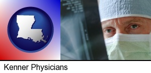 Kenner, Louisiana - a physician viewing x-ray results