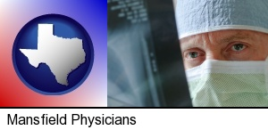 Mansfield, Texas - a physician viewing x-ray results