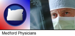 a physician viewing x-ray results in Medford, OR