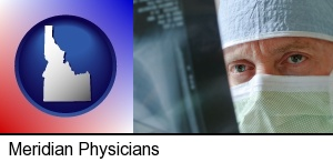 Meridian, Idaho - a physician viewing x-ray results