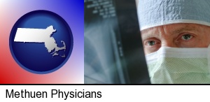 Methuen, Massachusetts - a physician viewing x-ray results