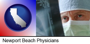 a physician viewing x-ray results in Newport Beach, CA