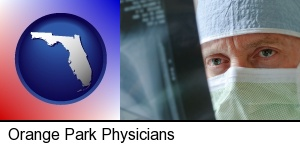 Orange Park, Florida - a physician viewing x-ray results