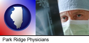 Park Ridge, Illinois - a physician viewing x-ray results