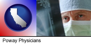 Poway, California - a physician viewing x-ray results
