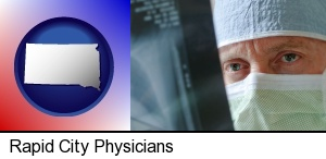 Rapid City, South Dakota - a physician viewing x-ray results