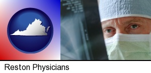 Reston, Virginia - a physician viewing x-ray results