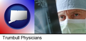 a physician viewing x-ray results in Trumbull, CT