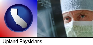 Upland, California - a physician viewing x-ray results