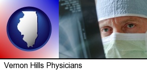 Vernon Hills, Illinois - a physician viewing x-ray results